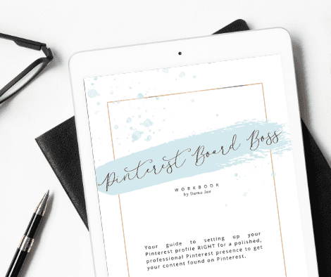 ipad with Pinterest Board Boss pdf for pinterest marketing
